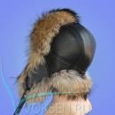 Шапка-ушанка из меха енота MRC02